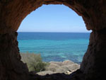A Libyan grotto overlooking the sea